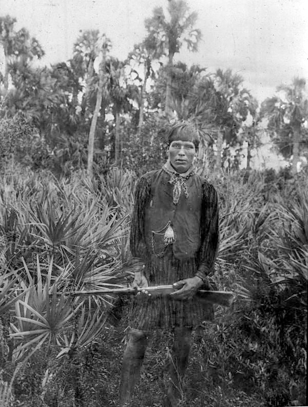 Seminole Charley Everglades National Park historic photograph courtesy US Government Archives