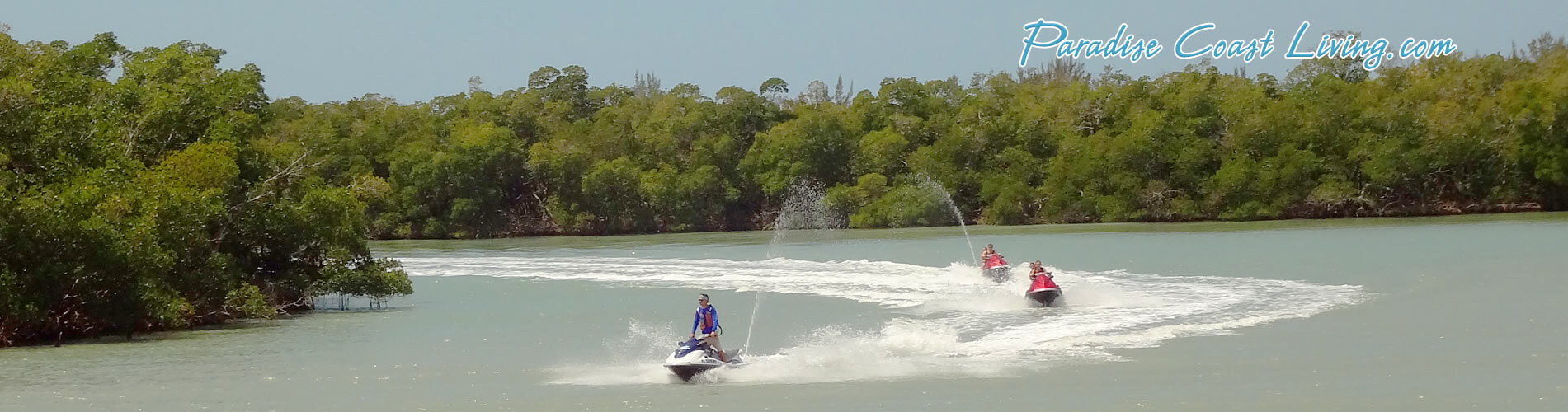 Jet Skiing Fun in SW FL Paradise Living Activities